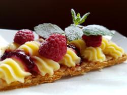 Dessert de fruits rouges