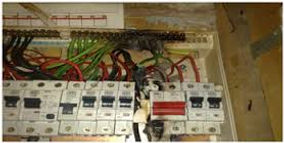 dangerous fuse box, consumer unit