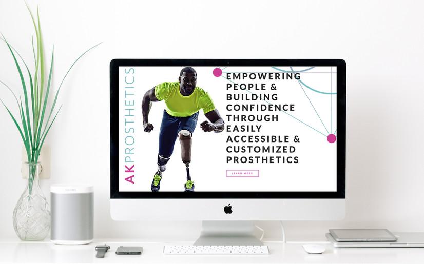 AK Prosthetics Landing Page