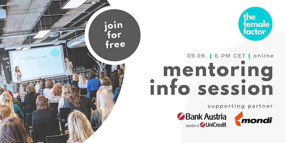 mentoring info session