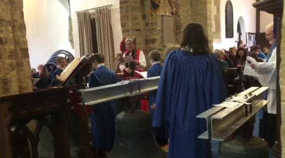 The blessing of the bells by the Bishop of Dorking