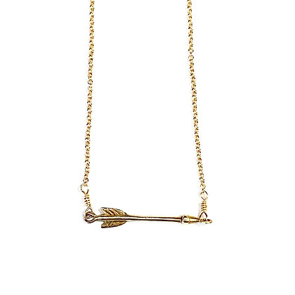 WD 05 Gold Arrow Necklace