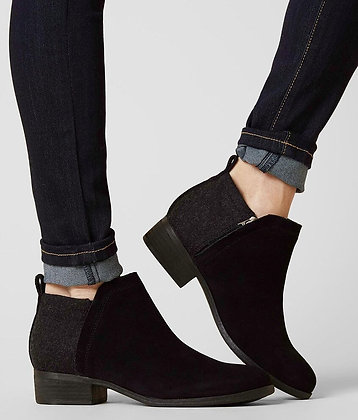 Tom's Suede and Wool Ankle Bootie