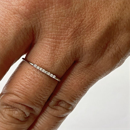 SH 12 Pave Bar Ring