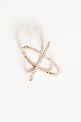 X Swarvosky Crystal Ring