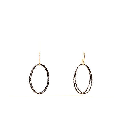 RS 12 Sparkle Oval Earrings
