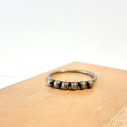JD 14 Stack 6 Ball Silver Ring
