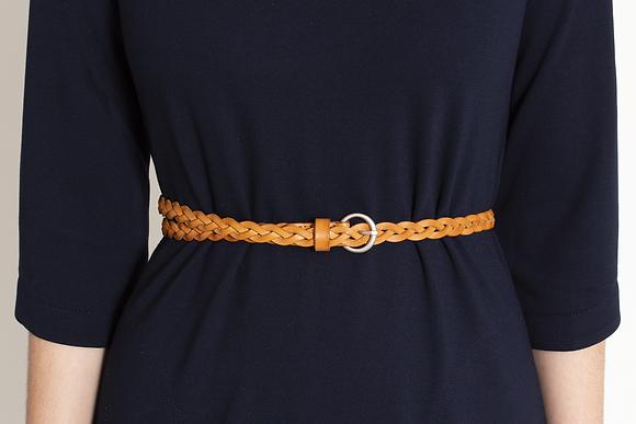 Small Braided Buckle Belt