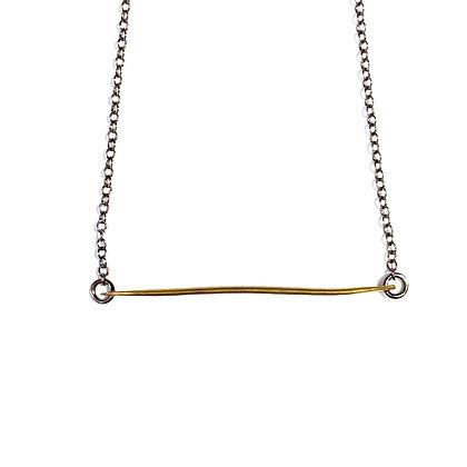 TW 03 Single Bar Brass Necklace