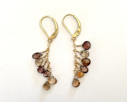 TN 54  Smokey Quartz Earrings