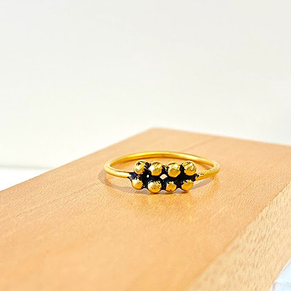 JD 15 Stack 8 Ball Gold Ring