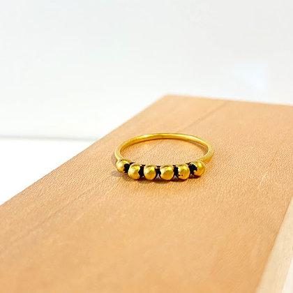 JD 13 Gold 6 Ball Ring