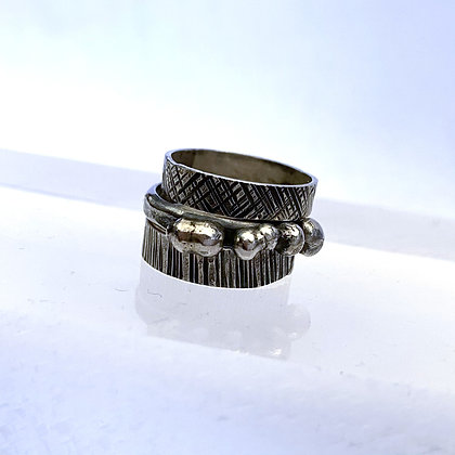 DH 223 Triple Textured Rings