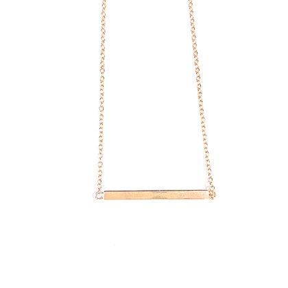 SR 34 Bar Necklace Rose Gold