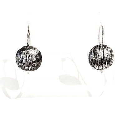 DH 204 Dome Silver Earrings
