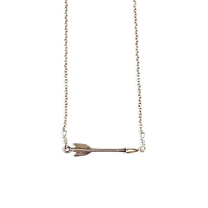 WD 06 Silver Shooting Arrow Necklace