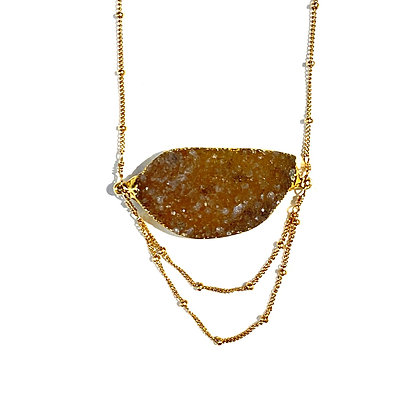 RJ 100 Long Druzy Crystal Necklace
