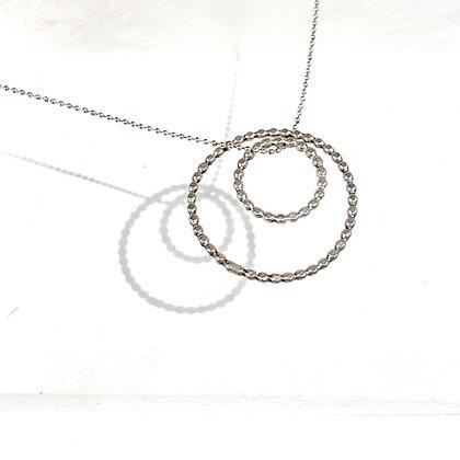 AA 13 Hammered Hoop Necklace