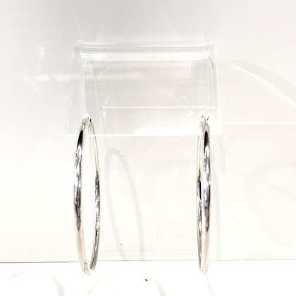 SM 21 Large Silver Hoop Earrings