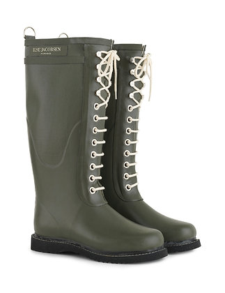 Ilse Mid-Lace Rubber Boot