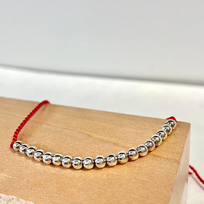 SM 16 Sterling Lucky Bead Bracelet