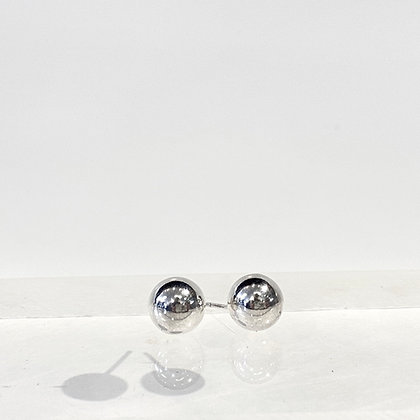 Medium Silver Ball Studs