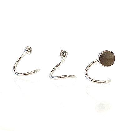 SE 21 Titanium Circle Ear Coil