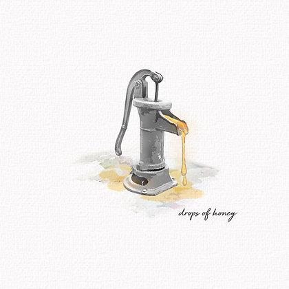 drops of honey.