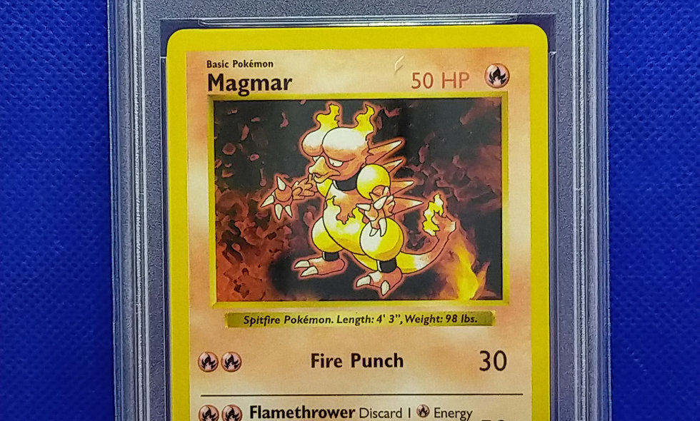 Pokemon Base Set Shadowless Magmar PSA 10