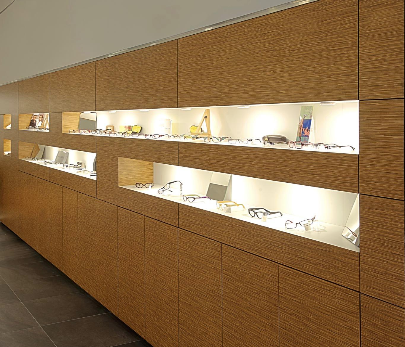 Men's eyeglass section
