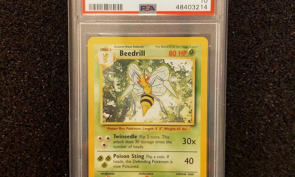 PSA 10 Pokemon Base Set (UK 4th Print) Beedrill