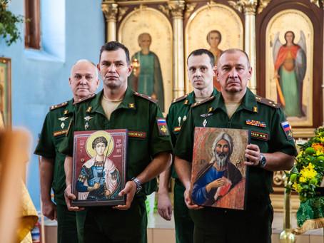 В храмы епархии переданы воинские святыни