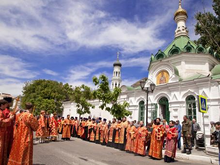 В День славянской письменности в Астрахани прошел традиционный общегородской крестный ход