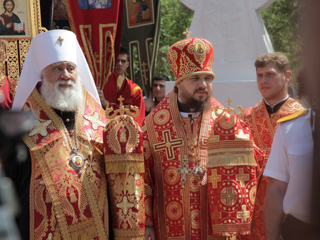 Владыка Антоний принял участие в крестном ходе в Астрахани в День славянской письменности и культуры