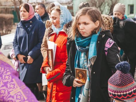 В день Торжества Православия в епархии прошли крестные ходы
