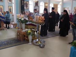 В праздник Покрова Божией Матери епископ Всеволод возглавил богослужение в храме с. Сасыколи