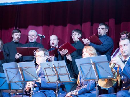 В День защитника Отечества певчие епархии исполнили произведения В. Халилова