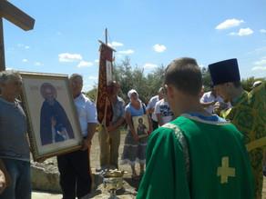 В с. Новоурусовка состоялась первая Божественная литургия в честь прп. Сергия Радонежского