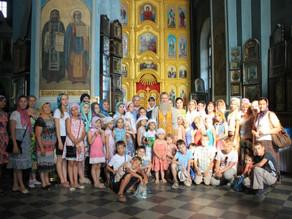 Юные паломники из Волгограда поклонились святыням Ахтубинской епархии