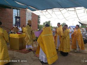 В день памяти святых апостолов Петра и Павла владыка Антоний возглавил богослужение в  Петропавловск