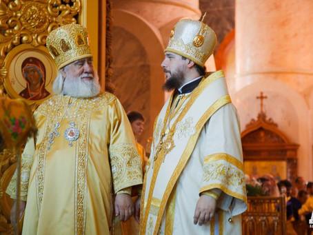 Клирики и миряне Ахтубинской епархии поздравили митрополита Иону с днем тезоименитства