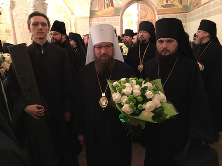 Астраханские архиереи поздравили Святейшего Патриарха Кирилла с 70-летием