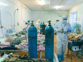Рождественским утром владыка Антоний посетил ковид-госпиталь в Ахтубинской ЦРБ