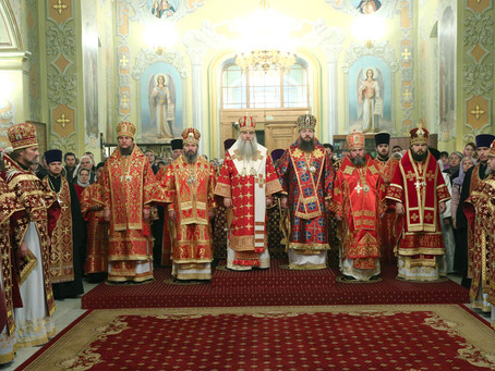 Владыка Антоний сослужил митрополиту Саратовскому и Вольскому Лонгину в день тезоименитства Его Высо