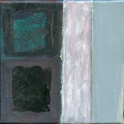 Deux carrés deux bandes noir & gris
