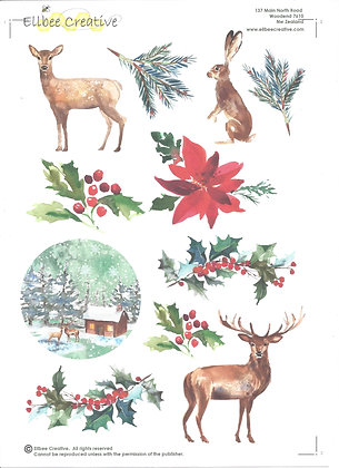 Christmas Die Cut Sheet (pre cut sheet, just punch out