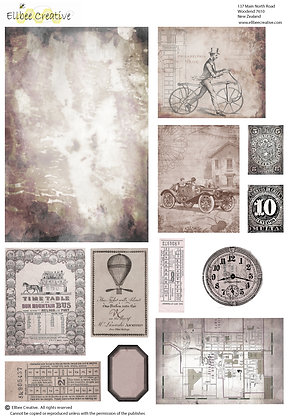A4 Topper Sheets - Men's Card Ephemera