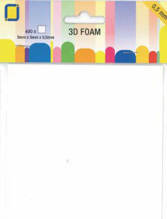 .5mm thick square dimensional foam dots