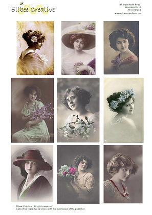 A4 Topper Sheet - Vintage Ladies