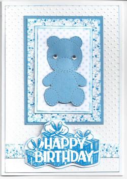 ue Teddy Bear Card